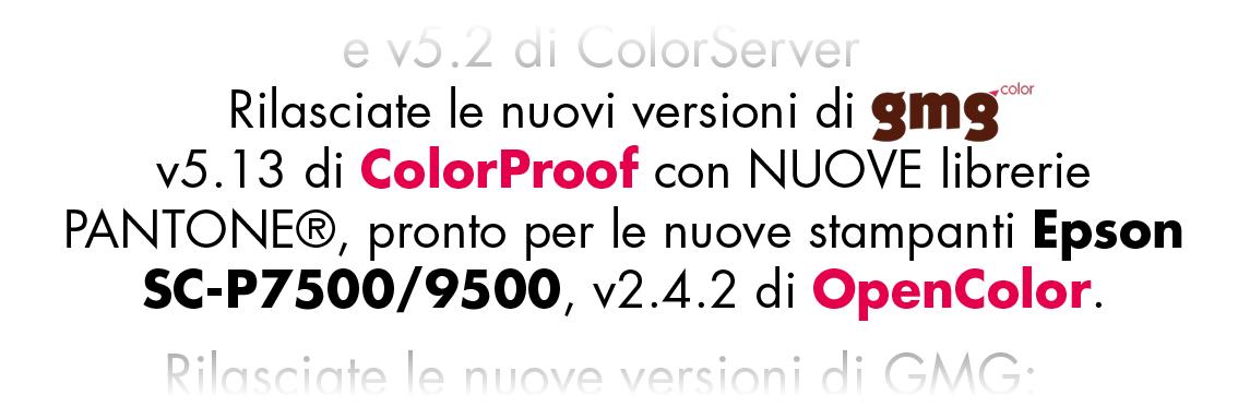 nuova tesea gmg epson colorproof opencolor